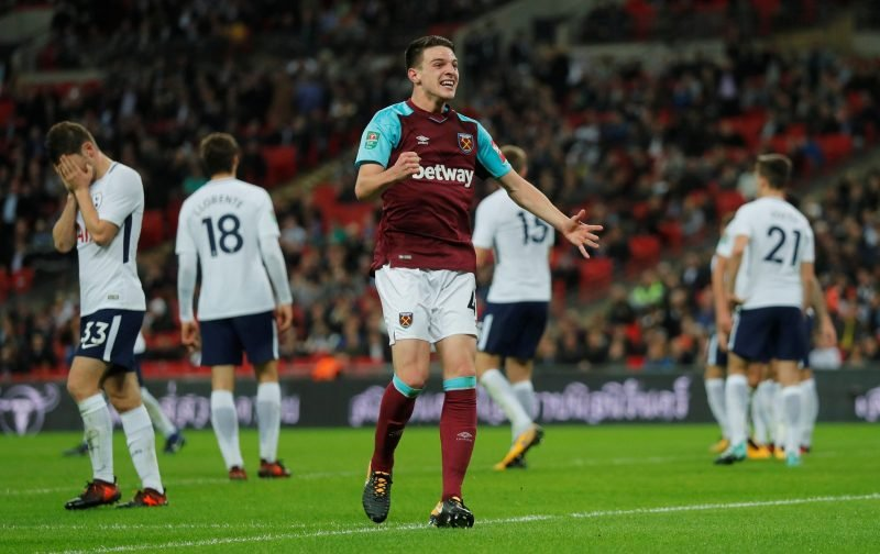 Rice earning less than three West Ham academy players