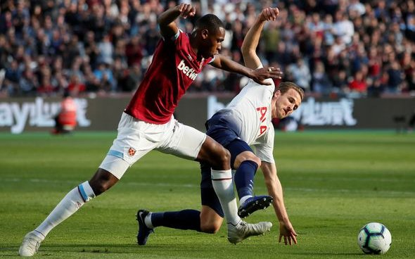 Image for West Ham fans react to official account's Diop tweet