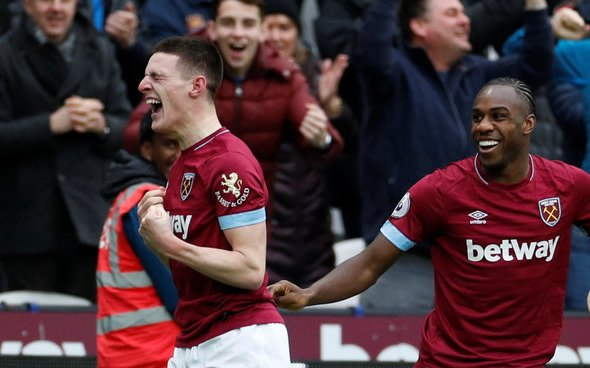 Image for West Ham fans will love club's Rice stance