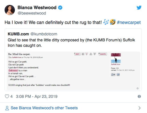 'Love it' - Bianca Westwood issues cheeky response over new West Ham fan chant