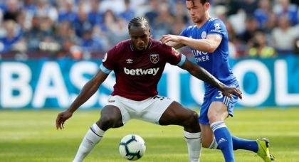 West Ham fans drool over Antonio v Leicester