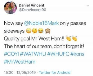 Some West Ham fans drool over ace who was 'Quality', 'Excellent', 'Class' v Watford