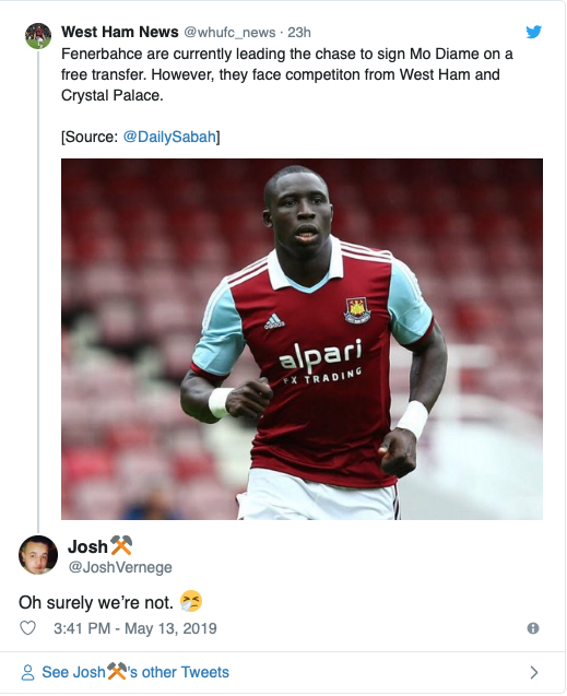 """'Is it April fools""""', 'Jog on' - Many West Ham fans fume over reported move for ex Hammer"""