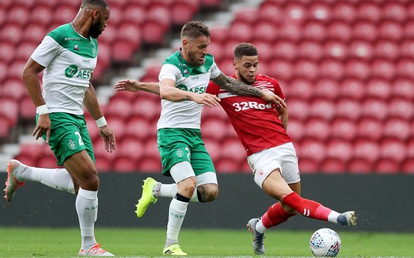 Image for West Ham fans remark on Browne's Boro debut