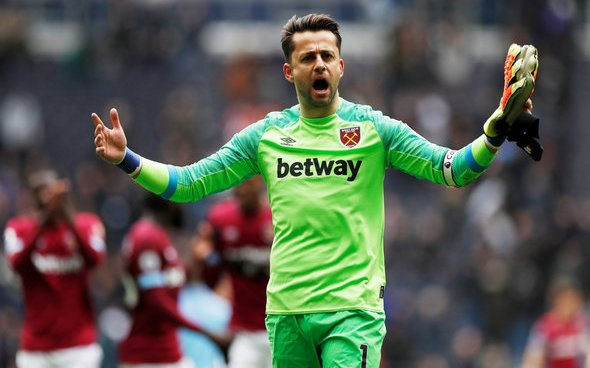 Image for West Ham fans on Twitter love to see Lukasz Fabianski video