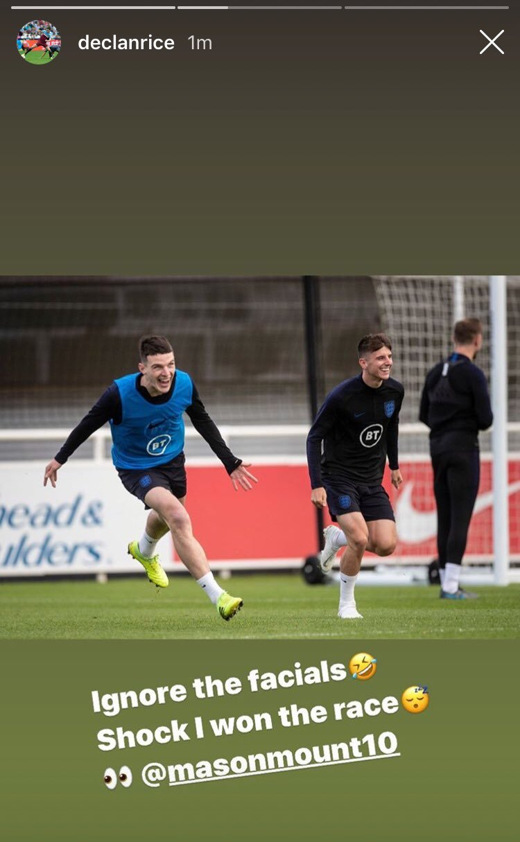 West Ham star Declan Rice sends cheeky Instagram message to Chelsea ace