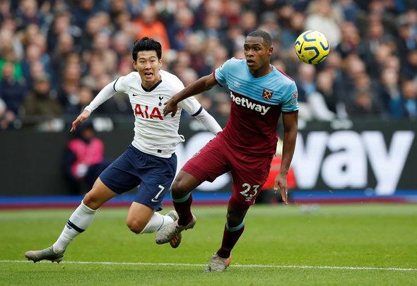 Image for West Ham fans destroy Diop v Tottenham