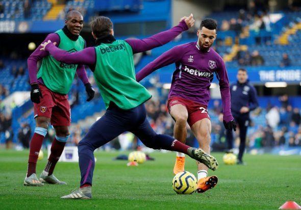Image for West Ham fans tear apart Fredericks at HT v Wolves