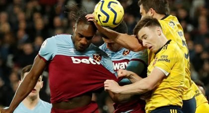 West Ham fans tear into Antonio at HT v Arsenal