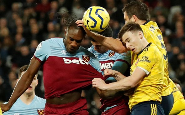 Image for West Ham fans tear into Antonio at HT v Arsenal