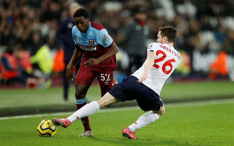 Image for West Ham fans want to see Jeremy Ngakia start against Brighton