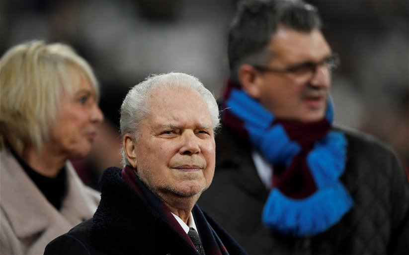 Image for West Ham fans on Twitter react to David Gold's business promotion