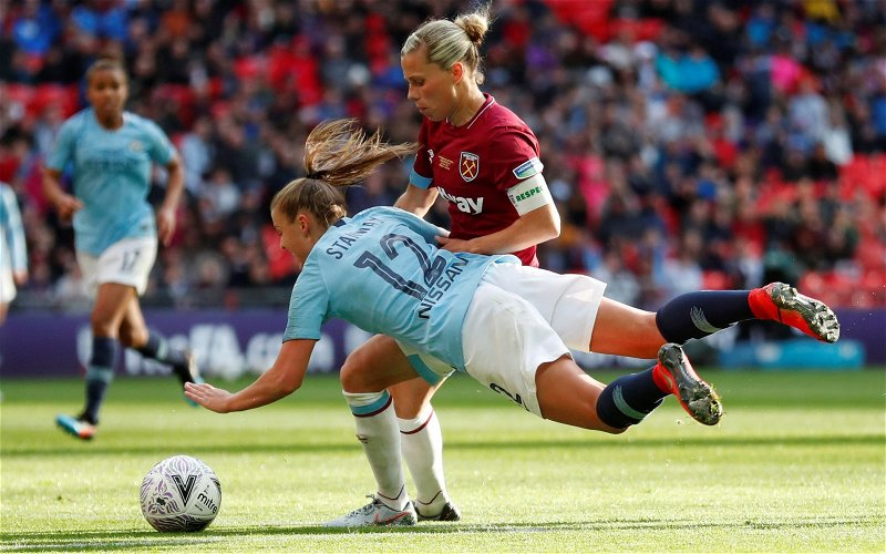 Image for West Ham fans heap praise on Gilly Flaherty as she reveals mental health struggles