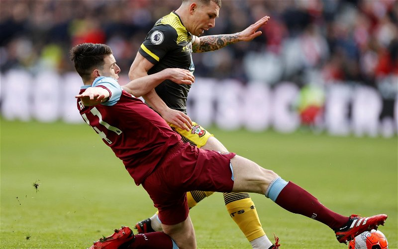 Image for West Ham fans on Twitter react to Declan Rice message