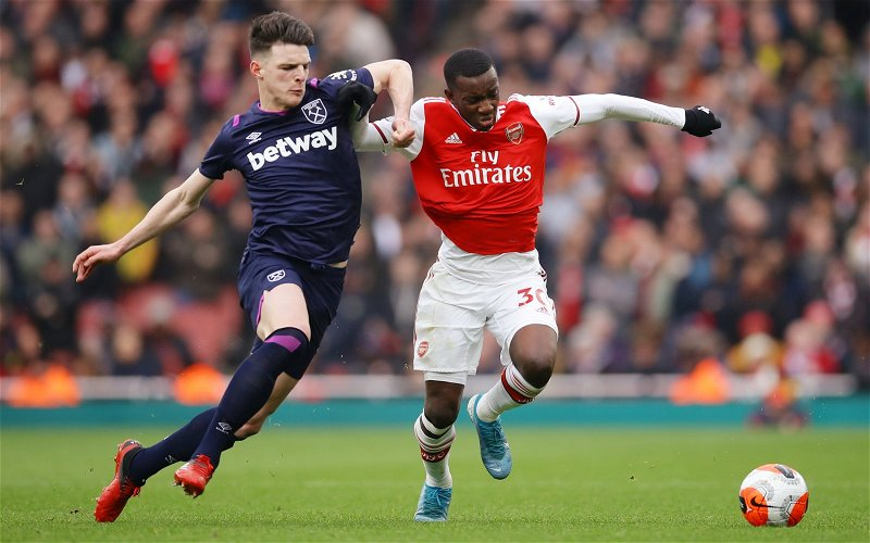 Image for West Ham fans react as Declan Rice takes to Twitter post-Arsenal