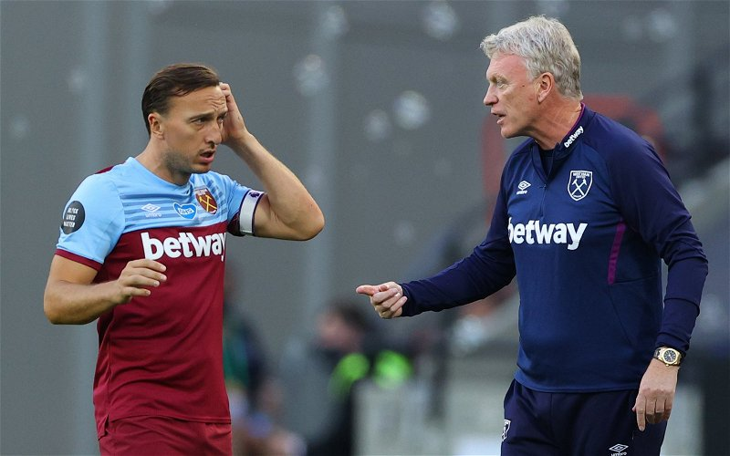 Image for Hammers endorse Mark Noble's non-playing role following insider claim